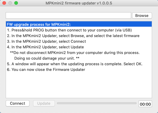 MPK_Mini_FirmwareUpdate